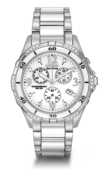 Steel & Ceramic Diamond Chronograph | FB1230-50A